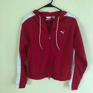 red puma track jacket